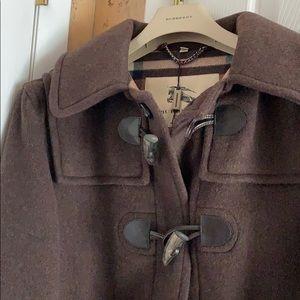Burberry Jackets & Coats - Women's Burberry Wool Duffle Toggle Coat Brown